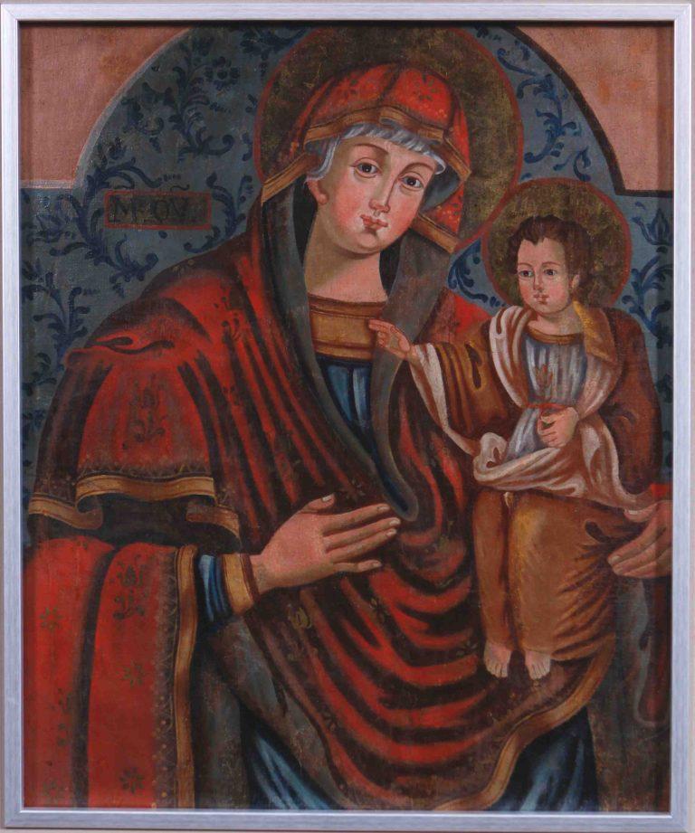 Chorągiew procesyjna. Matka Boska z Jezusem (Hodegetria)