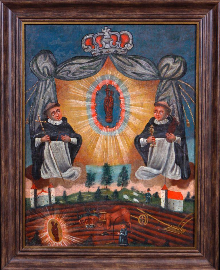 Matka Boska Gidelska ze św. Jackiem i św. Dominikiem